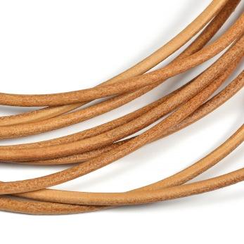 Lädersnöre natur, 3mm
