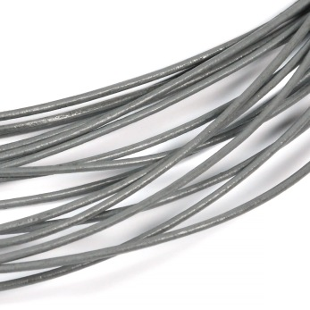 Lädersnöre grå, 1mm