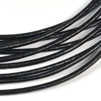 Lädersnöre svart, 3mm