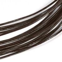 Lädersnöre mörkbrun, 1mm