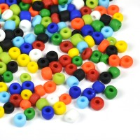 6/0 Seed beads, frostad mix, 4mm