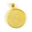 Stilren ramberlock, guld, 25mm