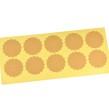 Blanka klistermärken, naturfärgade, 38mm – utförsäljning