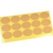 Blanka klistermärken, naturfärgade, ovala, 4x3cm – utförsäljning