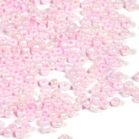 12/0 Seed Beads, lustered ljusrosa, 2mm