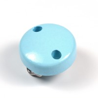 Mini-Träclips, ljusblå