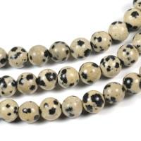 Dalmatinerjaspis pärlor, 6mm