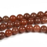 Aventurin pärlor, brun, 6mm