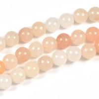 Aventurin pärlor, ljusaprikos, 6mm