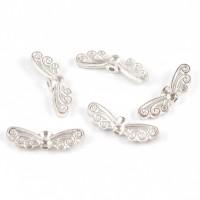 Sirliga änglavingar, silver, 22x7mm