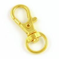 Hake för nyckelringar, guld, 35mm, 5st