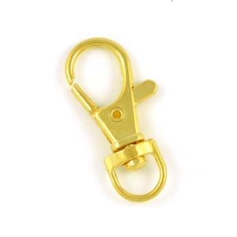 Hake för nyckelringar, guld, 32mm, 5st