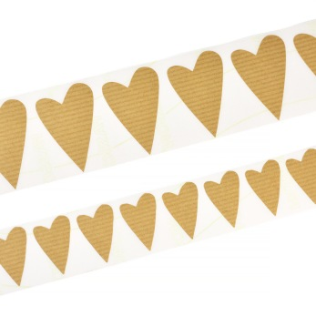 Klistermärken, modernt hjärta