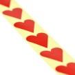 Klistermärken, rött hjärta