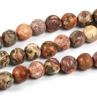 Röd leopard jaspis pärlor, 6mm