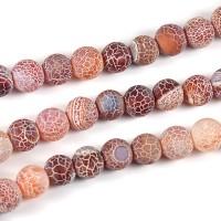 Frostade och kristalliserade agat pärlor, choklad, 6mm