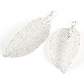 Berlock, stort blad, silver, 55-67mm, 1st