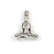 Berlock, yoga kvinna, antiksilver, 16x20mm, 5st