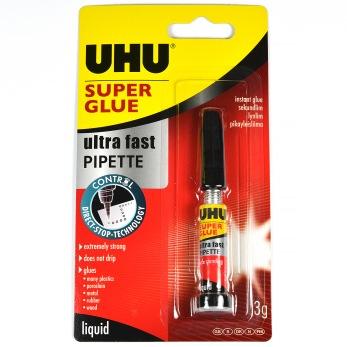 UHU Super Glue Pipette, 3g