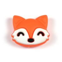 Silikonpärla rävhuvud, orange