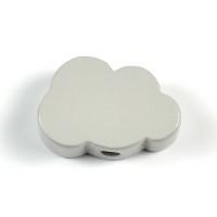 Motivpärla litet moln, ljusgrå