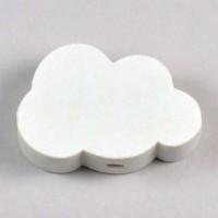Motivpärla moln, vit