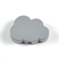 Motivpärla litet moln, grå