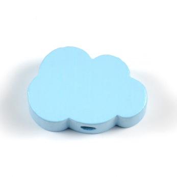 Motivpärla litet moln, ljusblå