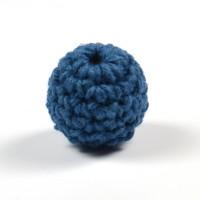 Virkad pärla, mörkblå, 16mm