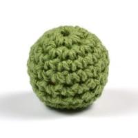 Virkad pärla, olivgrön, 20mm