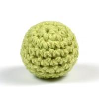 Virkad pärla, pistagegrön, 20mm