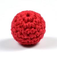 Virkad pärla, röd, 20mm