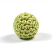 Virkad pärla, pistagegrön, 16mm