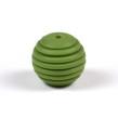 Räfflad silikonpärla 15mm, olivgrön