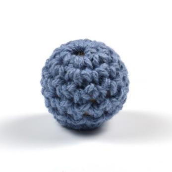 Virkad pärla, duvblå, 16mm