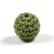 Virkad pärla, olivgrön, 16mm