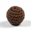 Virkad pärla, mörkbrun, 20mm