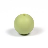 Silikonpärlor 15mm, pistagegrön