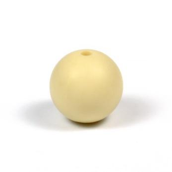 Silikonpärlor 15mm, beige