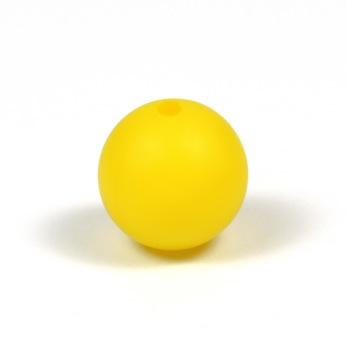 Silikonpärlor 15mm, gul