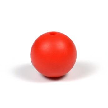Silikonpärlor 15mm, röd