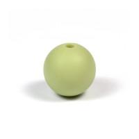 Silikonpärlor 12mm, pistagegrön
