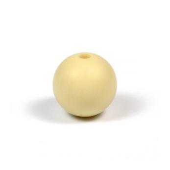 Silikonpärlor 12mm, beige