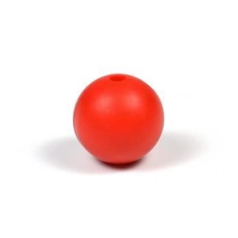 Silikonpärlor 12mm, röd