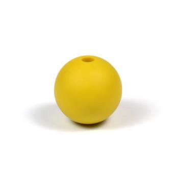 Silikonpärlor 12mm, senapsgul