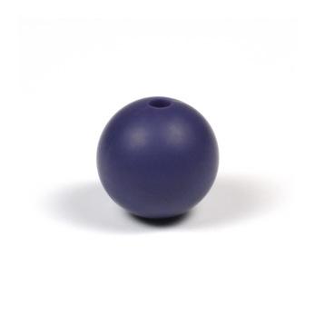 Silikonpärlor 12mm, blålila