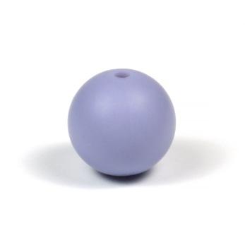 Silikonpärlor 15mm, duvblå