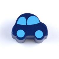 Motivpärla bil, mörkblå