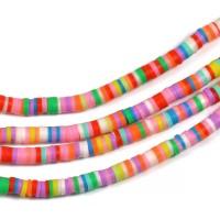 Polymerpärlor, färgmix, 4x1mm