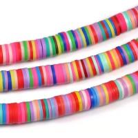 Polymerpärlor, färgmix, 8x1mm